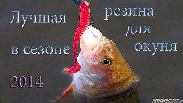 Изображение 1 : Лучшая резина для окуня 2014. Aiko, Lucky John, Reins, Crazy Fish, Bait Breath.